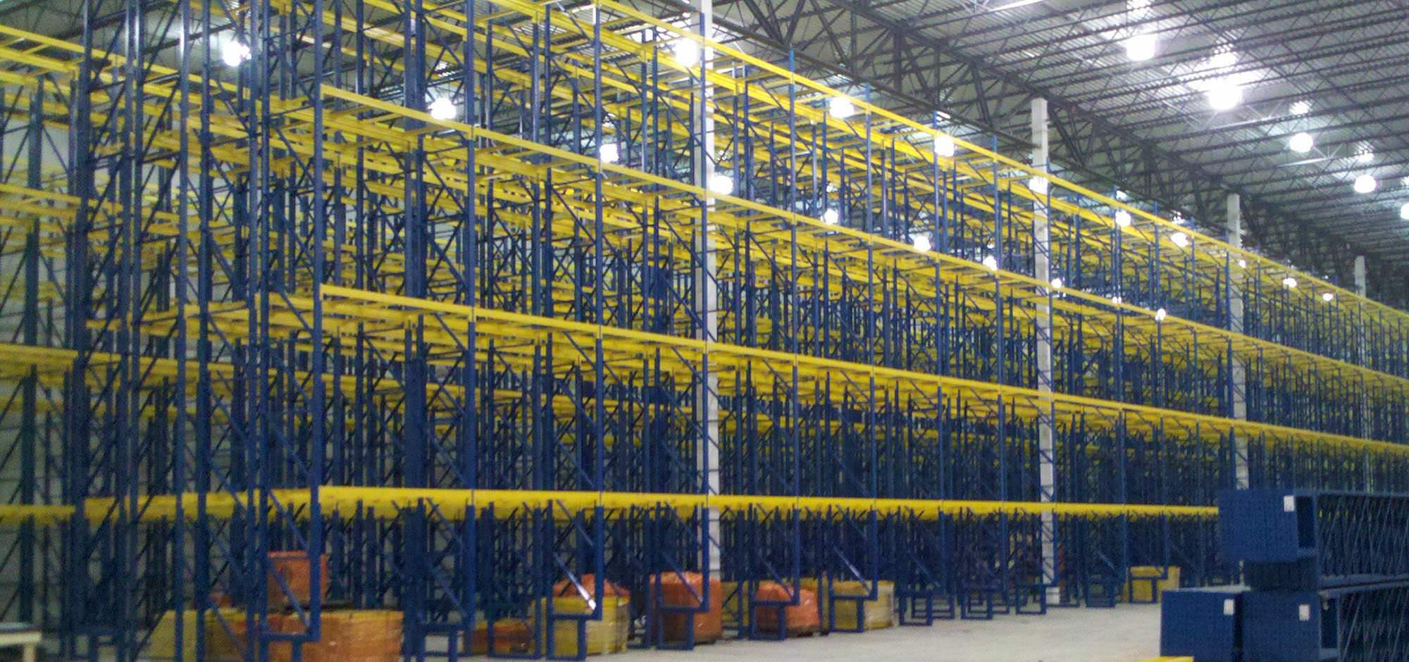 Industrial storage rack installation