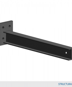 """Type 1 Arm 48""""L w/ 2,000 lbs max load capacity (4""""HD Structural I-Beam Profile Arm / 1.5° incline)"""