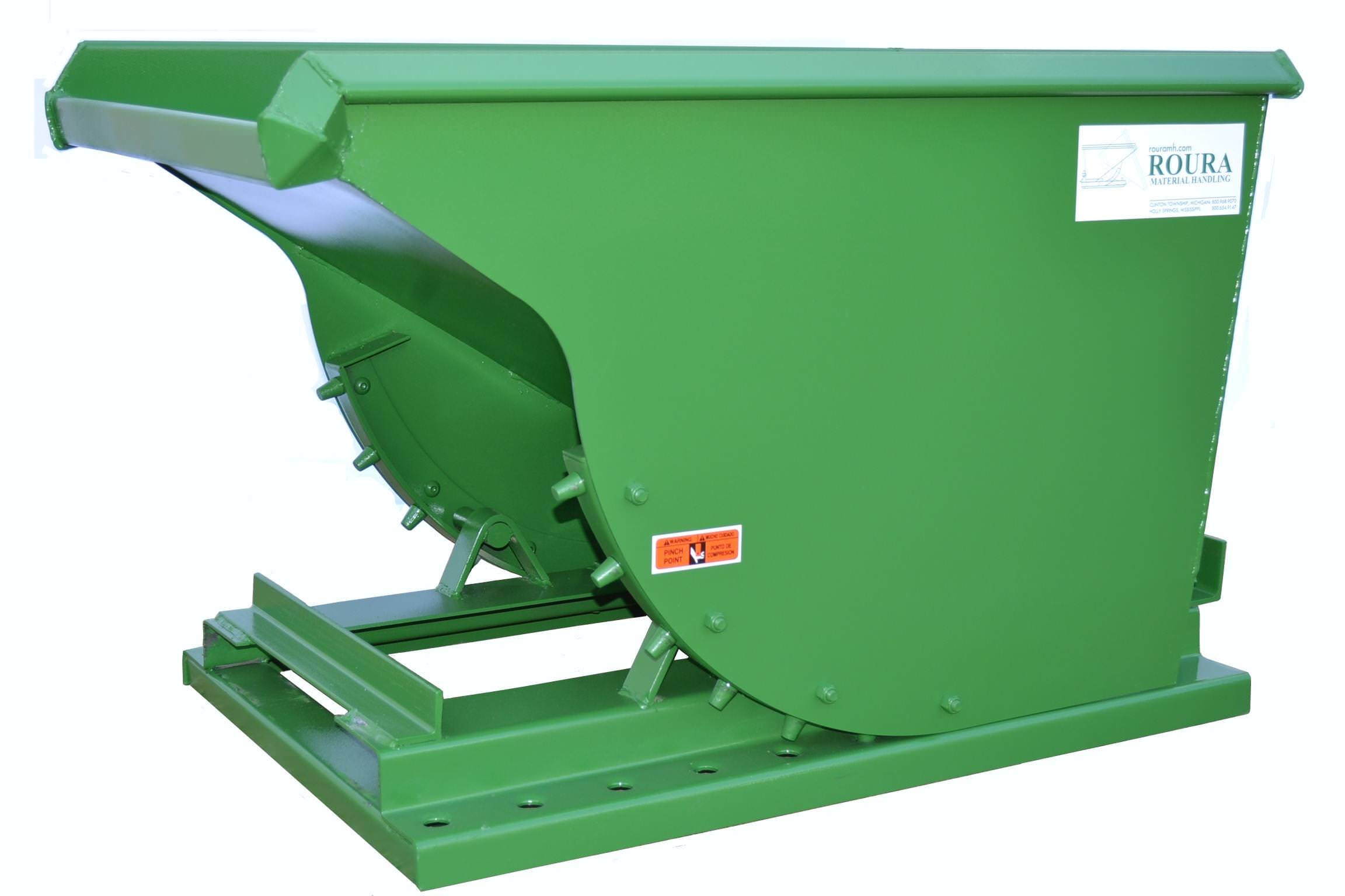 DURABLE 1/2 YD ROURA SELF-DUMPING HOPPER