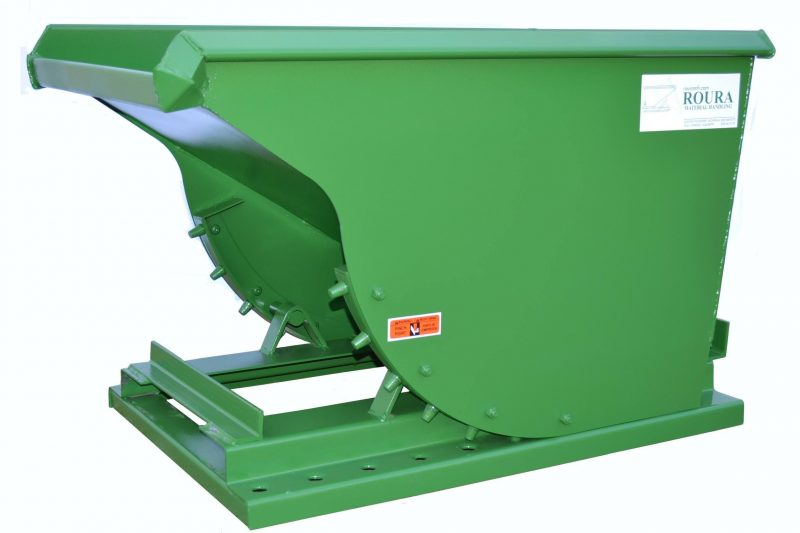 DURABLE SPECIAL LOW 1/3 YD ROURA SELF-DUMPING HOPPER 1