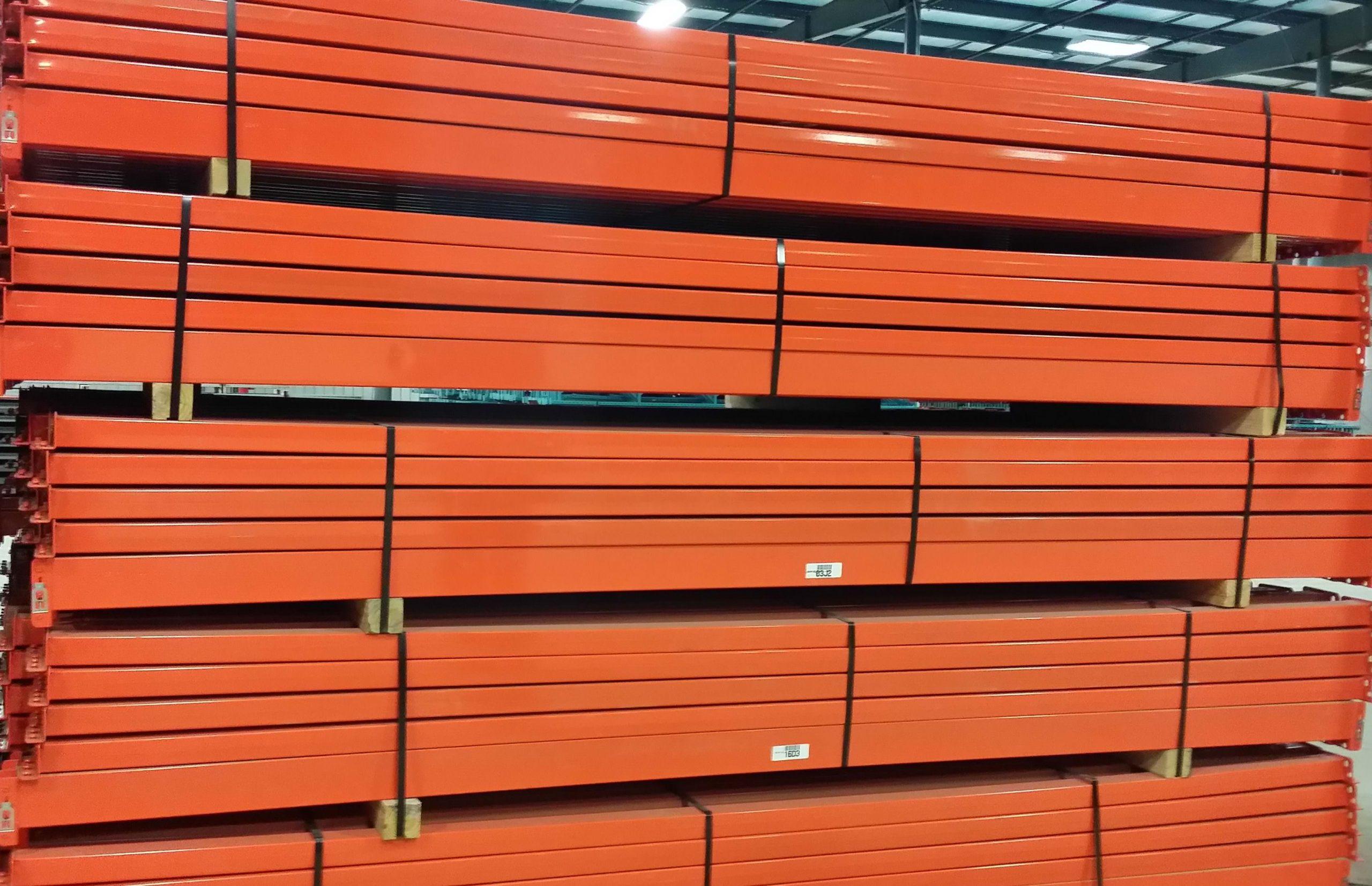 used teardrop pallet rack beams