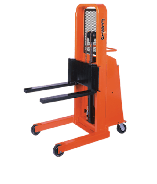 Presto Lifts Battery Operated Stacker B652-1500 B600 Series Adjustable 25″ Forks (Non-Straddle) 15″ Load Center Raised Height 52″ – 1500 Lbs