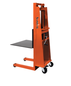 "Presto Lifts Batery Operated with Hand Crank MVF56 - MVF Series - 30"" Adjustable Forks - 15"" L.C. - Raised Height 56"""