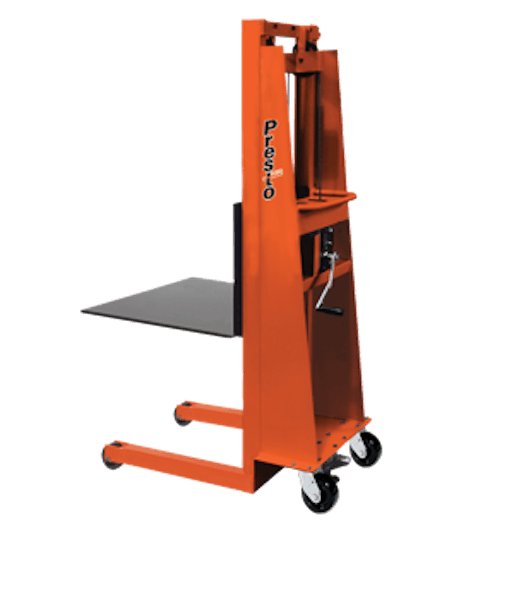 Presto Lifts Batery Operated with Hand Crank MVF56 – MVF Series – 30″ Adjustable Forks – 15″ L.C