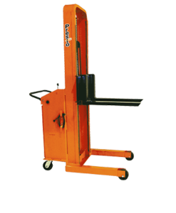 "Presto Lifts Battery Operated Stacker B666-2000 B600 Series Adjustable 25"" Forks (Non-Straddle) 15"" Load Center Raised Height 66"" - 2000 Lbs. Capacity"