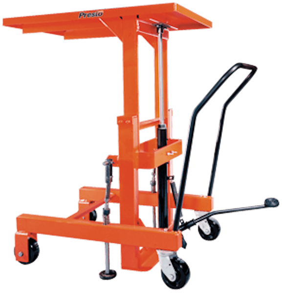 Material Handling Post Lift Tables Mechanical Hand Crank Table