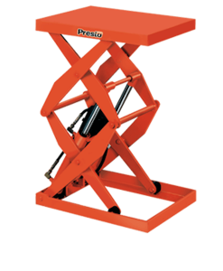 "Presto Lifts Hydraulic Double Scissor Lift DXS36-20 - DXS36 Series – 36"" Travel - 2000 Lbs. Capacity"