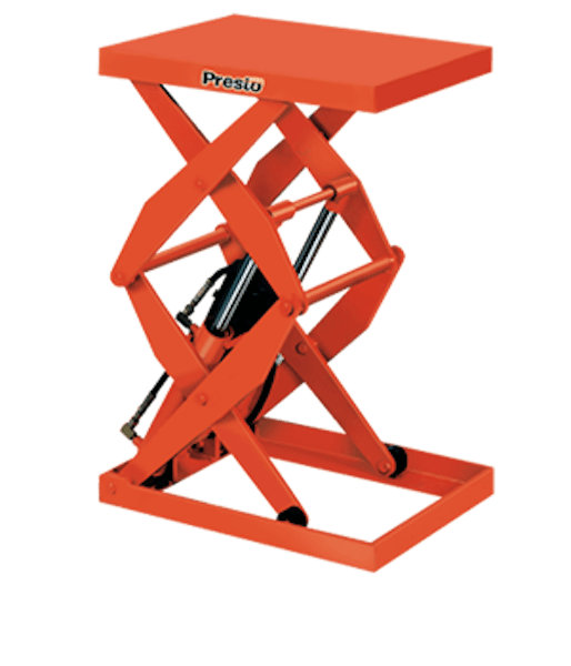 Presto Lifts Hydraulic Double Scissor Lift DXS48-40 – DXS48 Series – 48″ Travel – 4000 Lbs