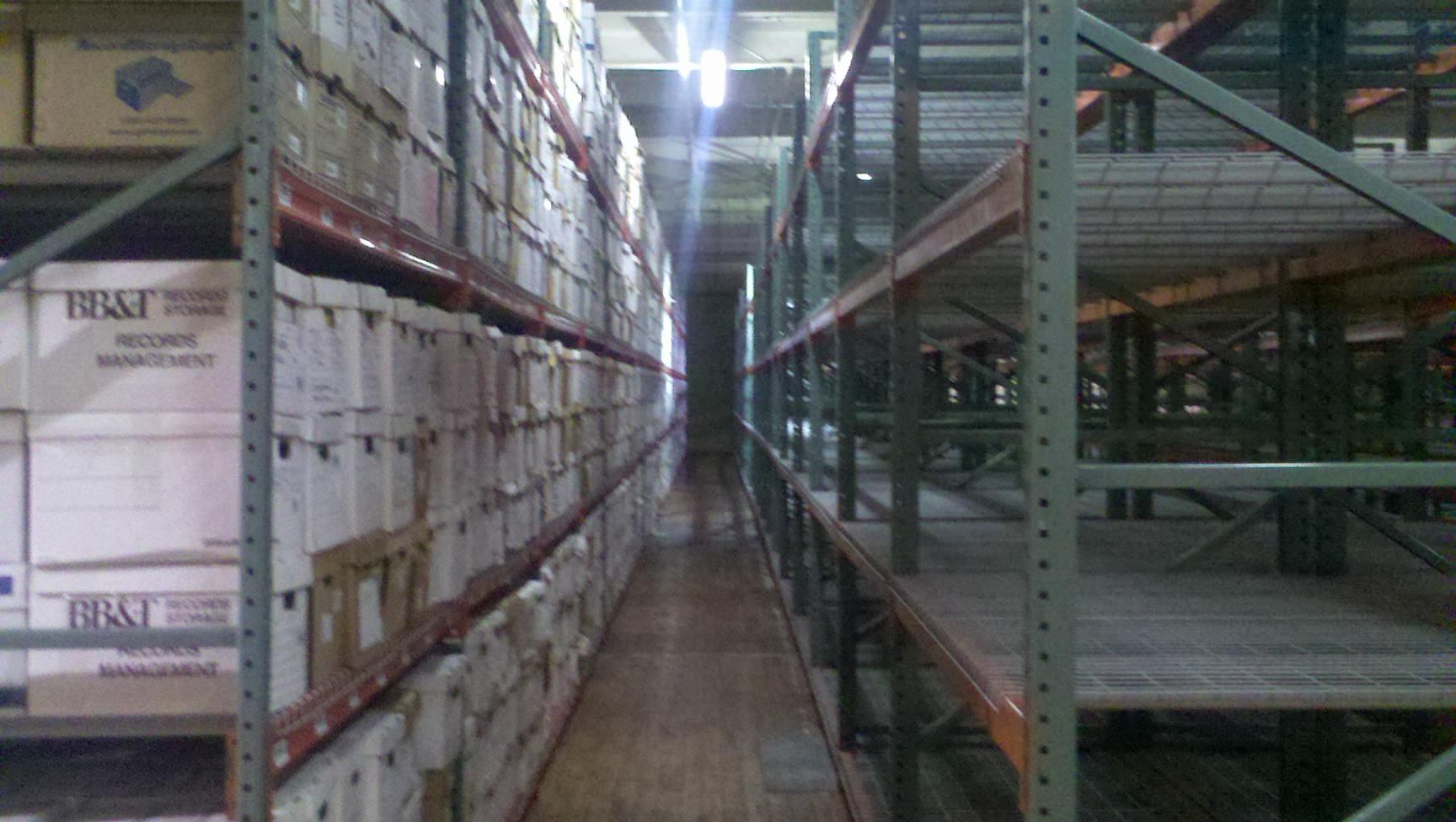 Record Storage rack system