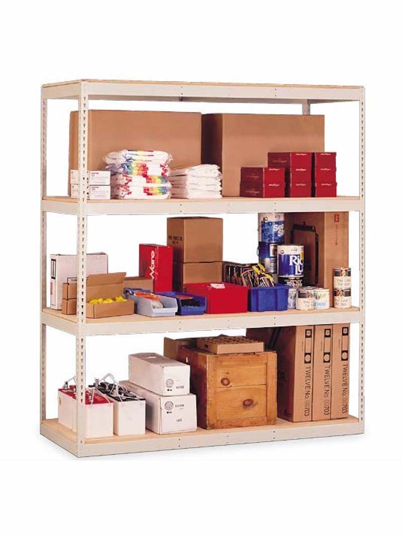 """Penco Products Double Rivet 4 Shelft Add On Unit 30""""D x 48""""W x 84""""H (with center support)"""