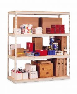 """Penco Products Double Rivet 4 Shelf Add On Unit 48""""D x 60""""W x 84""""H (with center support)"""