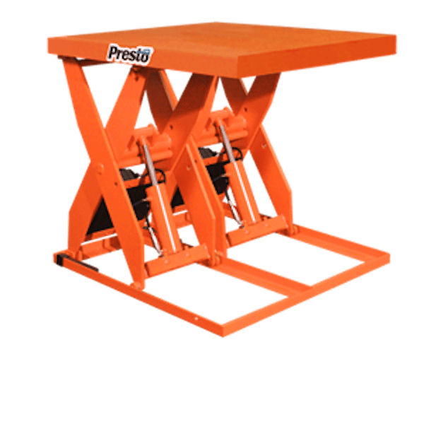 Presto Lifts Hydraulic Dual Scissor Lift XL60D-80 XL60D Series 60″ Travel – 8000 Lbs