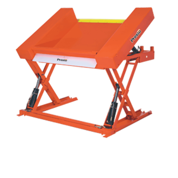 Prest Lifts Floor Level Lift & Tilt Table XZT50-40 XZT50 Series 50″ x 48″ Platform – 4000 Lbs