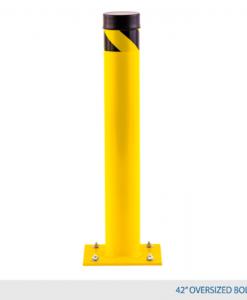 "42"" High Oversized Bollard ( 6"" diameter + 12"" x 12"" base plate)"