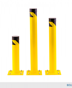 "42"" High Oversized Bollard ( 6"" diameter + 12"" x 12"" base plate)"