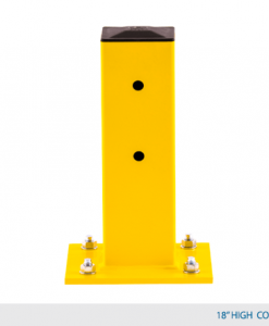 "18"" H Single Rail Column Post - Offset Base Plate"