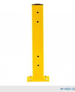 "44"" H Double Rail Column Post - Offset Base Plate"