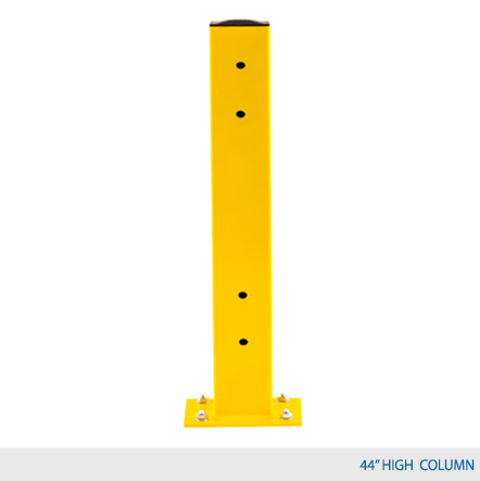 "44"" H Double Rail Column Post - Centered Base Plate"