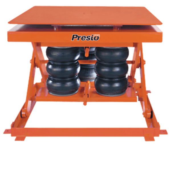 Presto Lifts Heavy-Duty Pneumatic Lift with Turntable AXSR60-4848 AXSR60 Series – 6000 Lbs