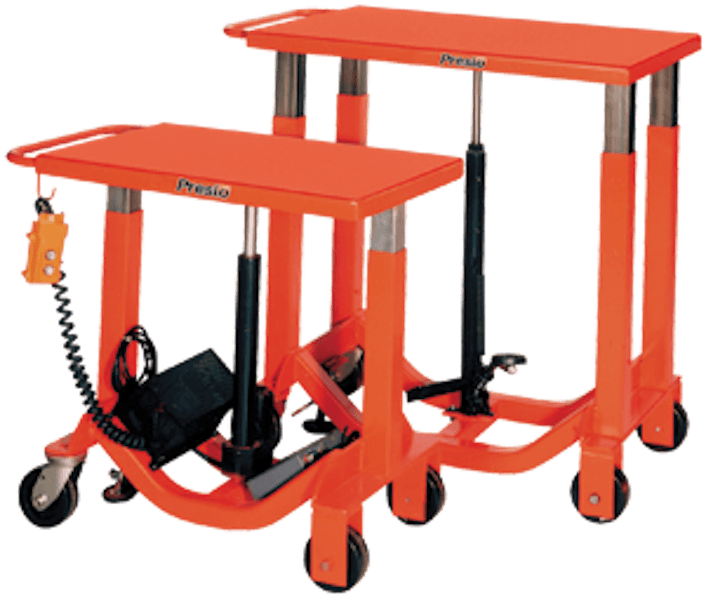 Presto Lifts Electromechanical Post Lift Table BP12-10 BP12 Series Battery-Operated Tables – 1000 Lbs