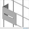 Double-Tier Industrial Storage Locker 7'6″H x 4'0″W x 3'0″D – framed 2″x2″x10GA welded wire mesh (Add-on Unit) 2