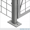 Single-Tier Industrial Storage Locker 7'6″H x 3'0″W x 4'0″D – framed 2″x2″x10GA welded wire mesh (Add-on Unit) 3