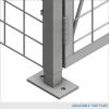 Double-Tier Industrial Storage Locker 7'6″H x 3'0″W x 5'0″D – framed 2″x2″x10GA welded wire mesh (Starter Unit) 3