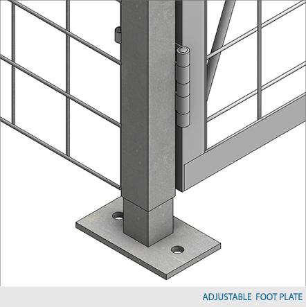"Single-Tier Industrial Storage Locker 7'6""H x 3'0""W x 3'0""D - framed 2""x2""x10GA welded wire mesh (Starter Unit)"