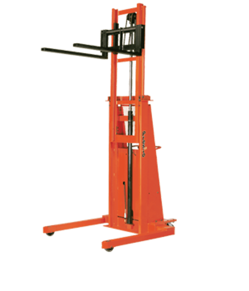 Presto Lifts Powered Straddle Stacker B886-2000 B800 Series 20″ Load Center Raised Height 86″ – 2000 Lbs