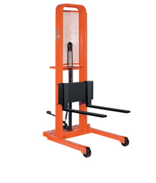 Presto Lifts Manual Lift Stacker M452 M400 Series – Adjustable 30″ Forks (Straddle) – Raised Height 52″ 1