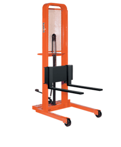 "Presto Lifts Manual Lift Stacker M466 M400 Series Adjustable 30"" Forks (Straddle) - Raised Height 66"""