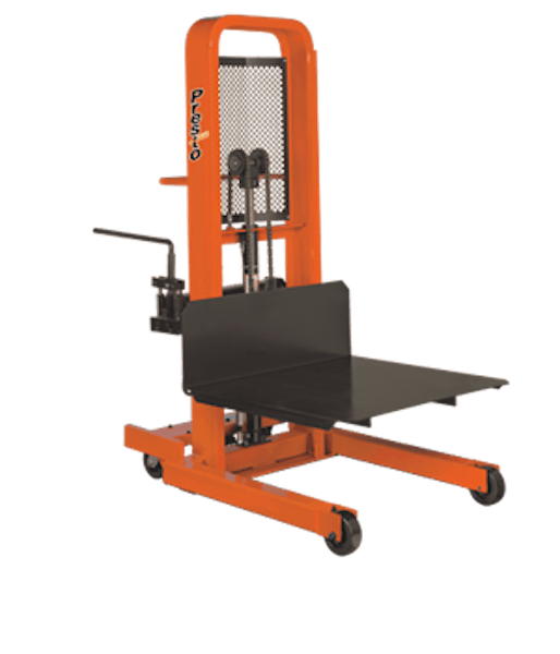 Presto Lifts Manual Lift Stacker M866-2000 M800 Series Adjustable 30″ Forks (Straddle) – Raised Height 66″ 1