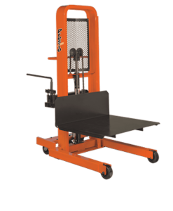 "Presto Lifts Manual Lift Stacker M878-2000 M800 Series Adjustable 30"" Forks (Straddle) - Raised Height 78"""