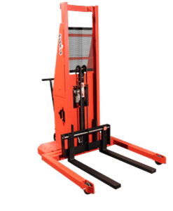 "Presto Lifts Powered Straddle Pallet Stacker PSA274 PSA Series Adjustable Base Straddle (35"" I.D. to 50"" I.D.) Raised Height 74"" - 2000 Lbs. Capacity"