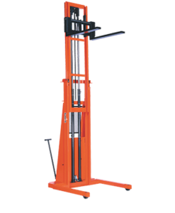 "Presto Lifts Powered Straddle Pallet Stacker PSTA294 PSTA Series Adjustable Base Straddle (35"" I.D. to 50"" I.D.) Raised Height 94"" - 2000 Lbs. Capacity"
