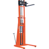 Presto Lifts Powered Straddle Pallet Stacker PSTA27107 PSTA Series Adjustable Base Straddle (35″ I.D. to 50″ I.D.) Raised Height 107″ – 2700 Lbs