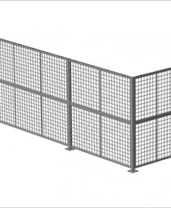 "Standard Panel 6' W x 5' H (exact size 70"" W x 59"" H) - Framed 2"" x 2"" x 10GA welded wire mesh"