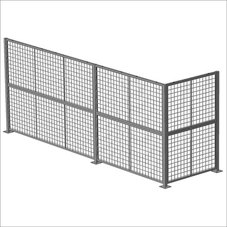 Standard Panel 7′ W x 5′ H (exact size 82″ W x 59″ H) – Framed 2″ x 2″ x 10GA welded wire mesh 1