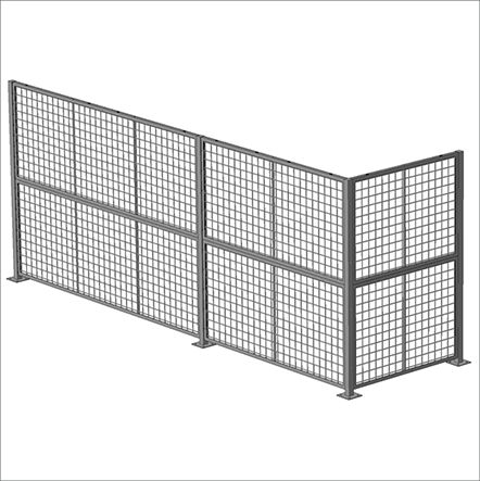 Standard Panel 10′ W x 5′ H (exact size 118″ W x 59″ H) – Framed 2″ x 2″ x 10GA welded wire mesh 1