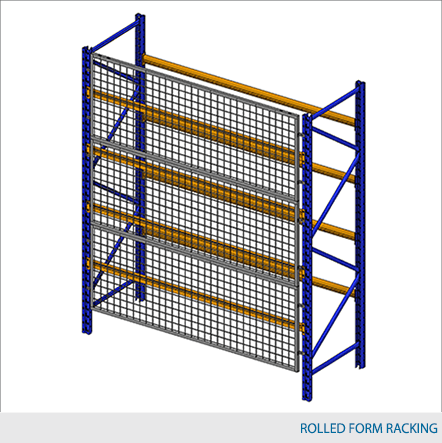 """Rack Guard Panel 8' W x 4' H (exact panel size 94"""" W x 47"""" H) - Framed 2"""" x 2"""" x 10GA welded wire mesh"""