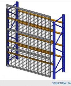 "Rack Guard Panel 9' W x 4' H (exact panel size 106"" W x 47"" H) - Framed 2"" x 2"" x 10GA welded wire mesh"