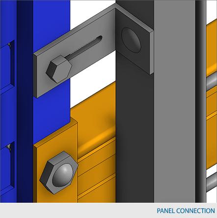 Rack Guard 10″ bracket (8″ offset from rack) – Roll formed upright installation 4x/pkg 1