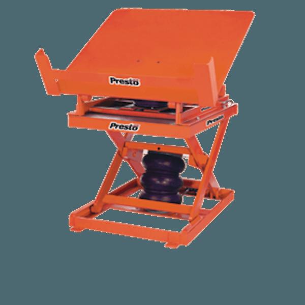 Presto Lifts Pneumatic Lift & Tilt Scissor Lift Table AXST80-4856 AXST80 Series – 8000 Lbs