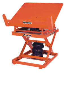 "Presto Lifts Pneumatic Lift & Tilt Scissor Lift Table AXST80-4860 AXST80 Series - 8000 Lbs. Capacity 48"" x 60"" Platform"