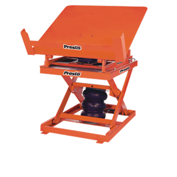 Presto Lifts Pneumatic Lift & Tilt Scissor Lift Table AXT20-4860 AXT20 Series – 2000 Lbs