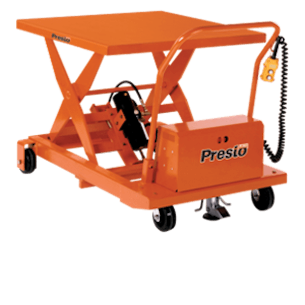 Presto Lifts DC Electric Portable Lift XBP36-20 – WBP36 Series – 36″ Travel – 24″W x 48″L Platform – 2000 Lbs