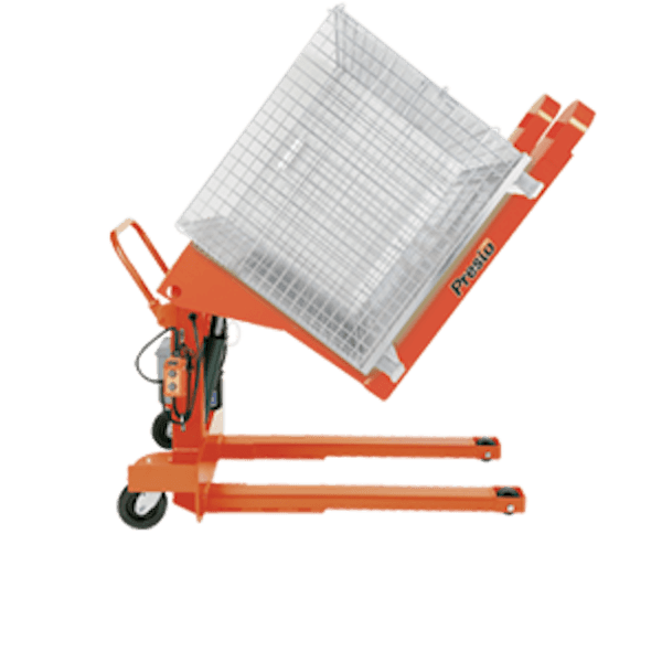 Presto Lifts Portable Container Tilter PTS50-20 PTS Series – 50″ I.D. – 2000 Lbs