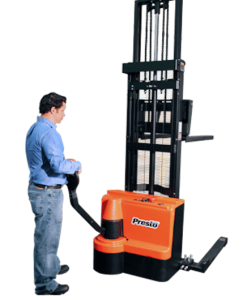 "Presto Lifts PowerStak PPS2200 Series Adjustable Base Straddle 2,200 Lbs. Capacity - 125"" Fork Height"