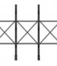 "Horizontal brace Type 1 for columns 60"" c/c"