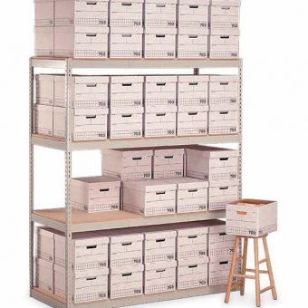 "Penco Products Record Storage 4 Shelf Starter Unit 15""D x 69""W x 84""H"